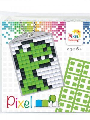 Pixelsleutelhanger Dino