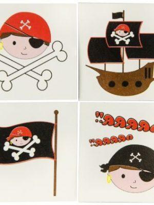 Tattoo piraat (per stuk)