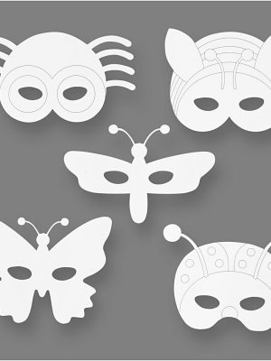 Insecten maskers 16 stks