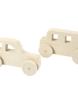 Houten auto's