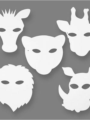Jungle dieren maskers 16 skts