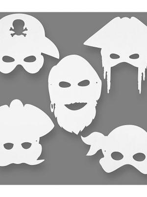 Piraten maskers 16 stks