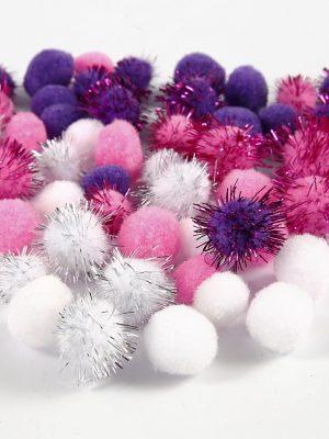Pompons roze
