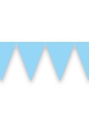Vlaggenlijn babyblauw 10 mtr