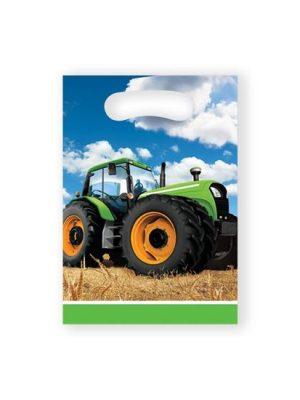 Uitdeelzakjes Tractor 8st.