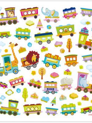 Stickers Dieren trein