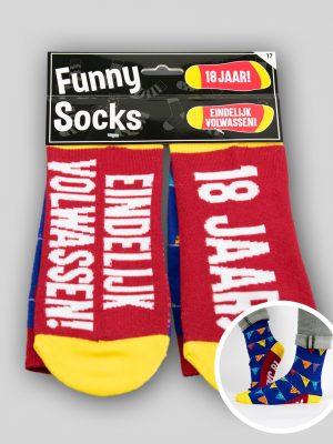 Funny Socks 18 jaar