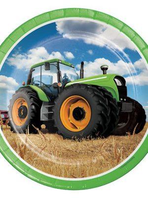 Bordjes Tractor 23 cm 8 stuks
