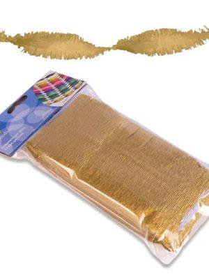 Crêpeslinger goud (6m)