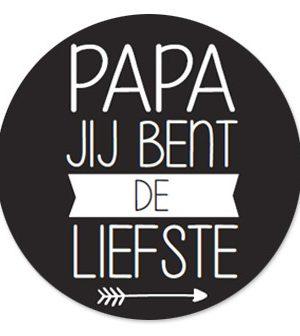 Wensetiket Papa de Liefste 5 stks