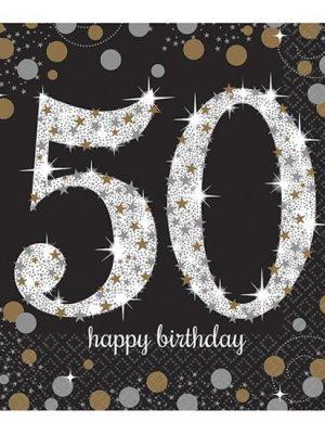 Servetten 50 - Goud