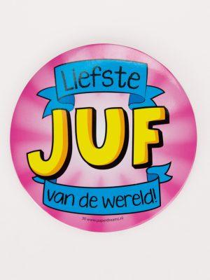 Button XL Liefste Juf