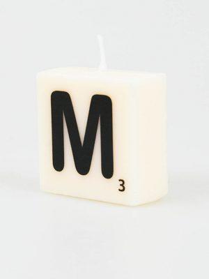 Letter Kaarsje - M