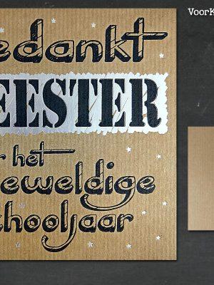 Letterpress kaart Meester