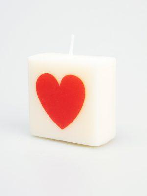 Letter Kaarsje - hartje rood