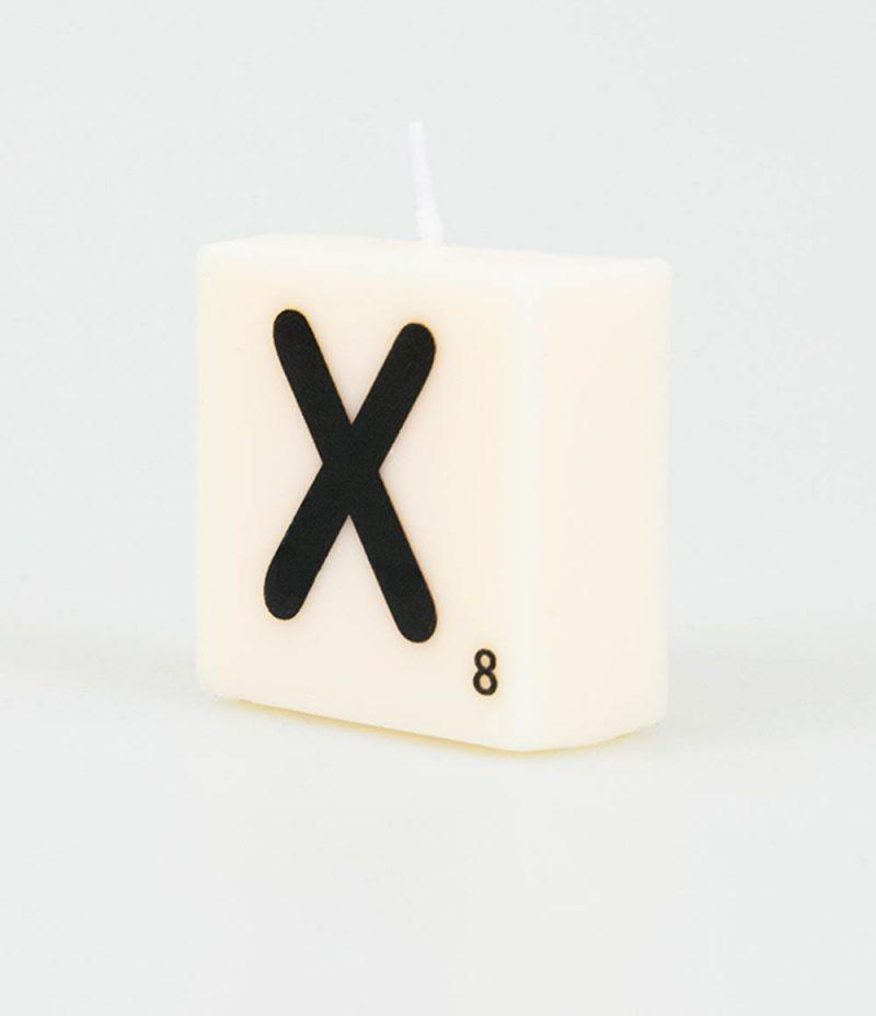 Letter Kaarsje - X