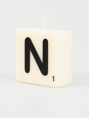 Letter Kaarsje - N