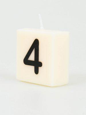 Cijfer Kaarsje - 4