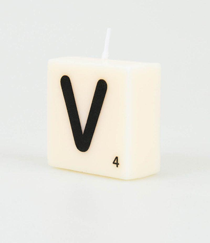 Letter Kaarsje - V