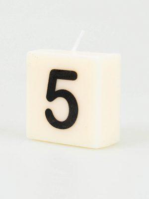 Cijfer Kaarsje - 5