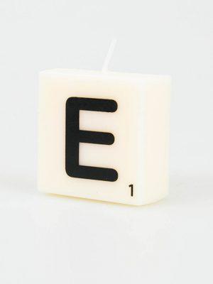 Letter Kaarsje - E