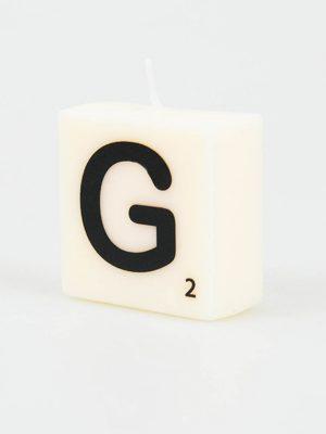 Letter Kaarsje - G