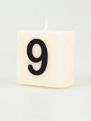 Cijfer Kaarsje - 9
