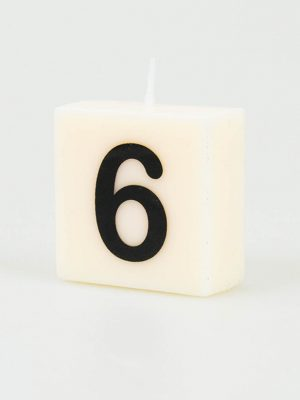 Cijfer Kaarsje - 6