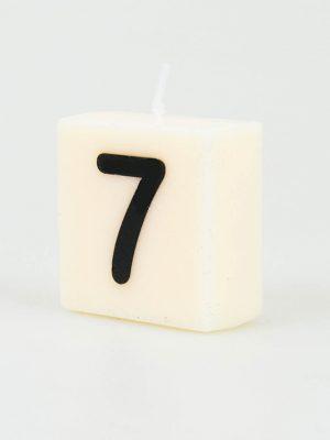 Cijfer Kaarsje - 7