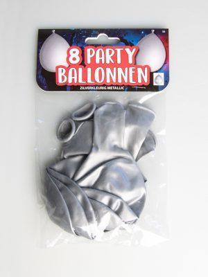 Party Ballonnen - Zilver metallic