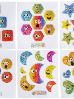 Smiley glitter stickers
