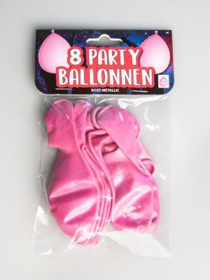 Party Ballonnen - Roze metallic