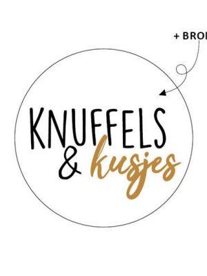 Wensetiket Knuffels & Kusjes 5 stks