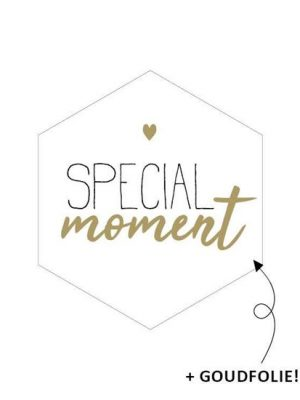Wensetiket Special Moment 5 stks