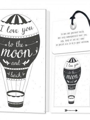 Kaart met geurzakje Love to the Moon