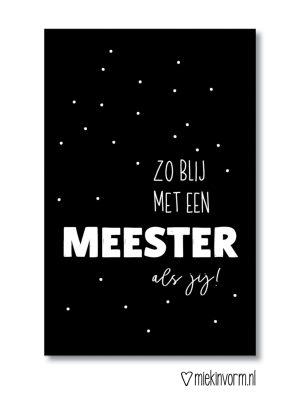 Meester mini-kaartje