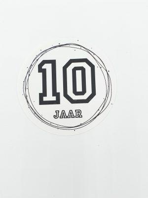 Leeftijd stickers 10 jaar