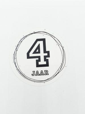 Leeftijd stickers 4 jaar