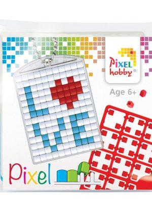 Pixelsleutelhanger LOVE