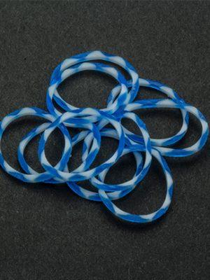 Loombandjes blauw/wit