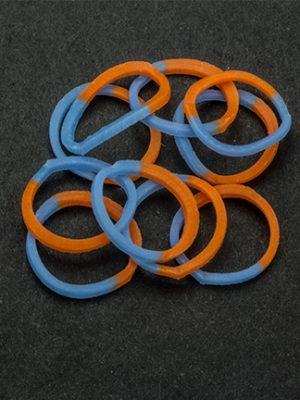 Loombandjes oranje/blauw