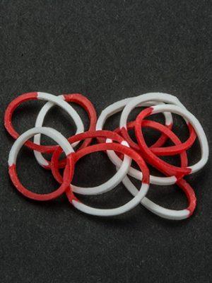 Loombandjes rood/wit