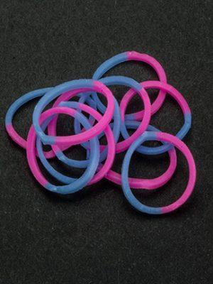 Loombandjes roze/blauw