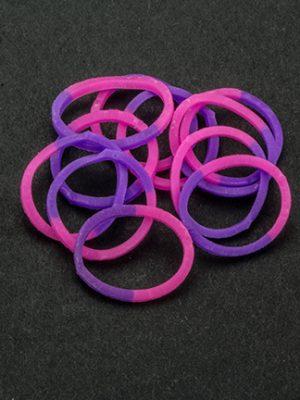 Loombandjes roze/paars