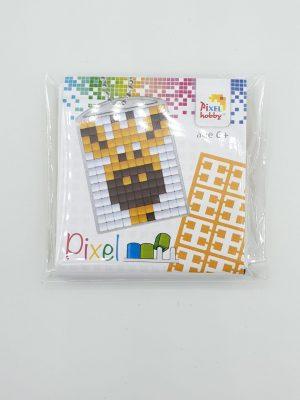 Pixel sleutelhanger Giraffe