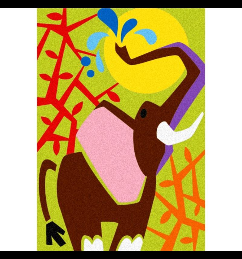 Zandschilderen Savanne dieren