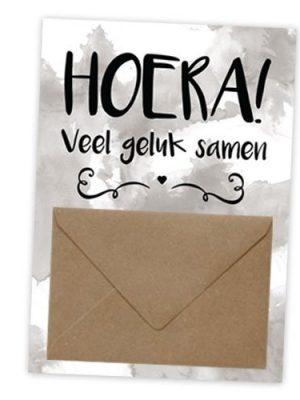 Geldkaart Hoera geluk