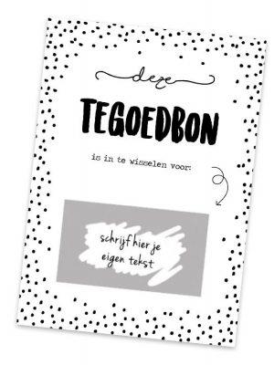 Kraskaart Tegoedbon